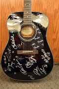 Fender Acoustic Guitar Signed By 13 Cast Members Of Lizzie Mcguire Disney Cruise