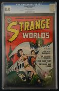 Strange Worlds 1 Cgc 8.0 Cream To Off-white Pages Cracked Case