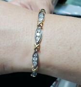 Two Toned Diamond Tennis Bracelet - 14k Solid Gold 3.00cttw Gift For Her