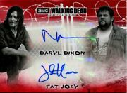 Walking Dead Hunters And Hunted Red [1/1] Dual Autograph Card Da-dj Reedus And Hoove