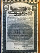 Series A Ny Central Railroad Company 1000 4 Gold Bond 1914 W/ Pay Coupons