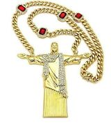 4 Inch Long Jesus 925 Sterling Silver Customize Pendant With 24 Inch Cuban Chain