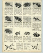 1954 Paper Ad Toy Marx Gas Station Doll House Tractors Pan Am Airplane Us Tank