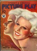 Picture Play Magazine December 1933- Jean Harlow- Marx Brothers- Crosby
