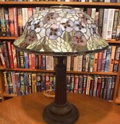 Antique Inspired Leaded Stained Glass Lamp Handel Chicago Brothers Style