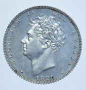 Rare 1826 Silver Proof Sixpence British Coin From George Iv Afdc