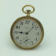 Movado Swiss 18k Yellow Gold 15 Jewel Four Adjustments Open Face Pocket Watch