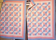 Antique Pineapple Quilts Your Choice Of Two They Match - Rare Find