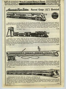 1936 Paper Ad 5 Pg American Flyer Electric Toy Trains Narrow Wide Gauge