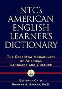 Ntcand039s American English Learnersand039s Dictionary The Essential Vocabulary Of Ameri