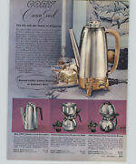 1957 Paper Ad 3 Pg Cory Coffee Brewer Stainless Steel Glass Double Pot Nicro