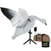 New Lucky Duck Super Snow Goose Flapper Hdi With Bag And Remote Motion Decoy