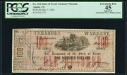 Obsolete Currency Austin Tx- State Of Texas 100 May 7 1863 Cr. 36a Medlar 116