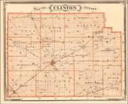 Clinton County Indiana Frankfort Antique Detailed Map Original 1876