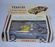 New Old Stock Vintage 1960s Ferrari Battery Operated Remote Control Race Car Toy