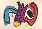 Mid-century Abstract Lithograph By Alan Davie