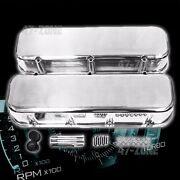 Polished Aluminum Smooth Tall Valve Covers For 68 -95 Chevy Bb 396 427 454 502