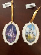 Disney The Most Magical Place On Earth Ceramic Disc Ornament Cinderella Castle