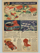 1940 Paper Ad Electric Self Starting Phonograph Blue Willow Dishes Buddy L Rider