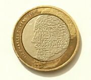 Charles Dickens 2012 Andpound2 Two Pound Coin Very Rare Royal Double Mint Error