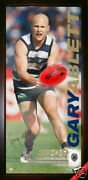 Geelong Cats Gary Ablett Limited Edition Hand Signed Framed Ball Brownlow Medal