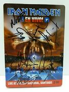 Iron Maiden All 6 Band Autographed Signed Dvd Booklet Cover Bas Certified