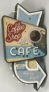 Retro Americana Cafe And Beer Led Signs 2 Designs Distressed Metal
