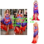 Emilio Pucci Sequin Beaded Tie Dye Red Purple Boho Gown I 42 Nwt 7800