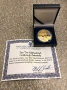 2010 American Silver Eagle 1oz Silver Coin With 24k Gold Gilded Proof Like
