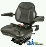 Universal Big Boy Suspension Tractor Seat With Armrests -black
