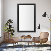 Framed Wall Mirror In Black Finish - Larue Collection
