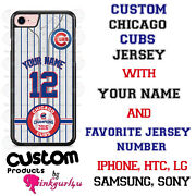 Chicago Cubs Phone Case Cover Fits Iphone Samsung Lg Moto Google Etcnameandnumber