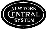 New York Central Logo Herald Sign Tin Vintage Style Railroad Herald Signs