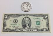 2003 Two Dollar United States Note And 1901 O Morgan Silver Dollar