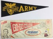 Vintage 1950 Army West Point Usa College University Mini Pennant 3.5x9.5