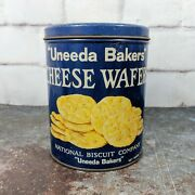 Vintage Uneeda Bakers Cheese Wafers National Biscuit Company Tin Can 6.50