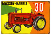 Distressed Massey Harris 30 Country Reproduction Sign 12x18