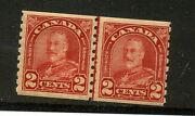 Canada Scott 181 Coil Line Pair Mint Never Hinged Stamp