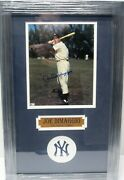 Joe Dimaggio New York Yankees Signed Autographed Matted Framed 8x10 Photo Coa