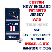 New England Patriots Phone Case Cover Custom Name And No. For Iphone Samsung