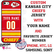 Kansas City Chiefs Jersey Phone Case Cover Fits Iphone Samsung Etc Name And