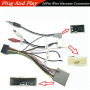 1car Stereo 20pin Wiring Harness Connector Wire For 1 2 Din Android Multimedia