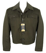 New Gianni Versace Couture Cashmere Jacket E 50 Us 40 Olive Removable Liner