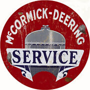 Large Mccormick Deering Service Station And Gas Vintage Look Reproduction Sign