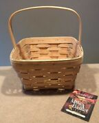 Longaberger 1998 Natural Large Berry Make A Basket Signed By Jerry, Judy And Mary