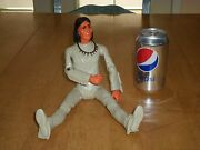 Louis Marx- Geronimo, U.s. Old West Indian Plastic Action 12 Figure Toy,1960s