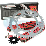 Red O-ring Chain Sprocket For 2001-2004 2002 2003 Yamaha Yz250 Yz 250