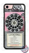 Vintage Rotary Dial Pink Telephone Phone Case Cover For Iphone Samsung Google Lg