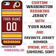 Washington Redskins Phone Case Cover For Iphone Samsung Lg Moto With Name.