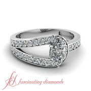 .70 Ct Marquise Cut Si2 Diamond Engagement Rings For Women Ring Pave Set 14k